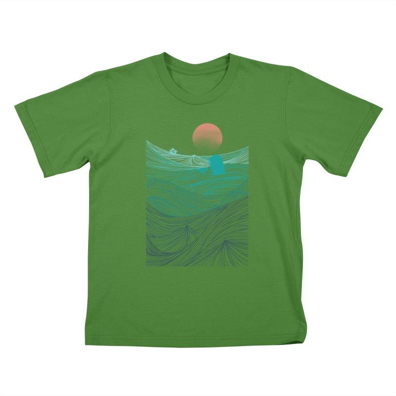 Behind the great whale Kids T-shirt by Sebasebi