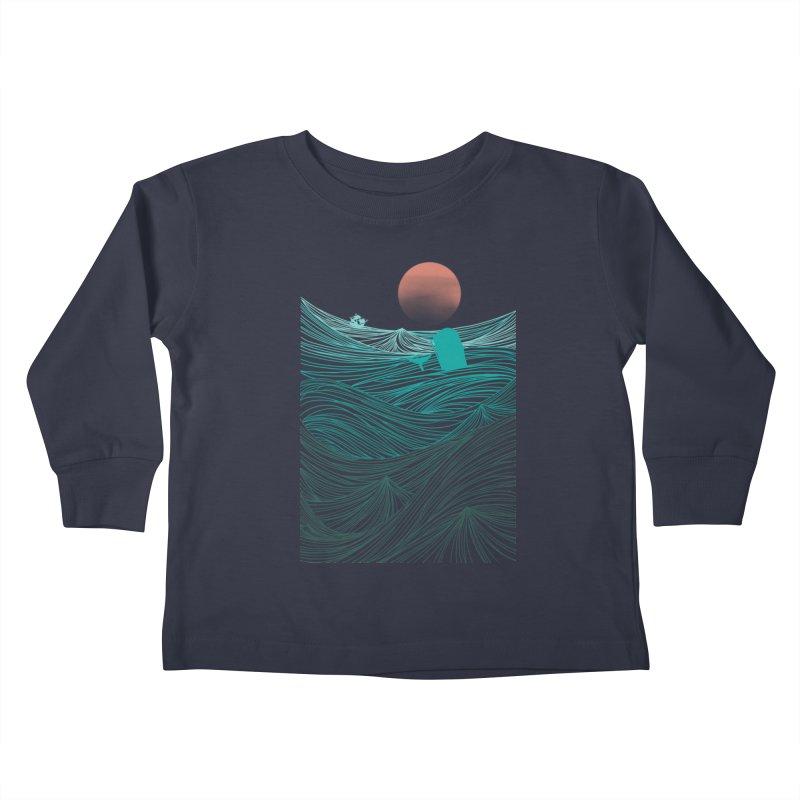 Behind the great whale Kids Toddler Longsleeve T-Shirt by Sebasebi