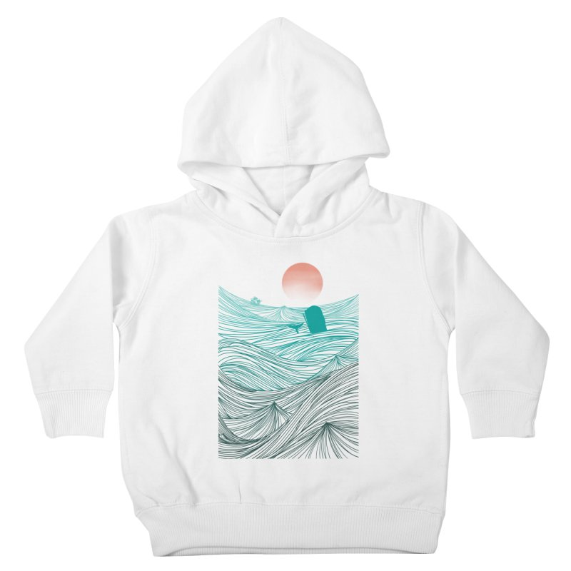 Behind the great whale Kids Toddler Pullover Hoody by Sebasebi
