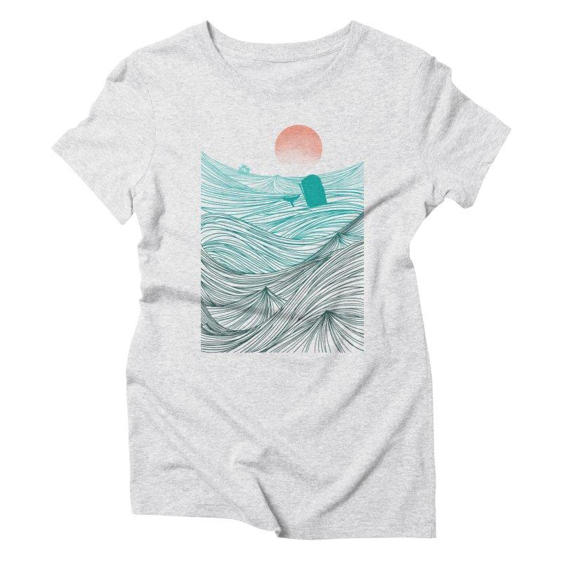 Behind the great whale Women's Triblend T-Shirt by Sebasebi