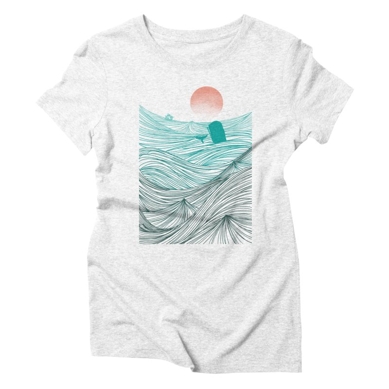 Behind the great whale Women's Triblend T-shirt by Sebasebi