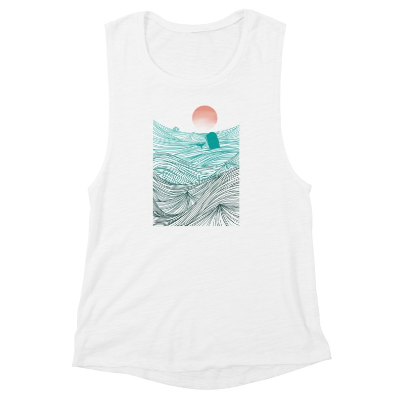 Behind the great whale Women's Muscle Tank by Sebasebi