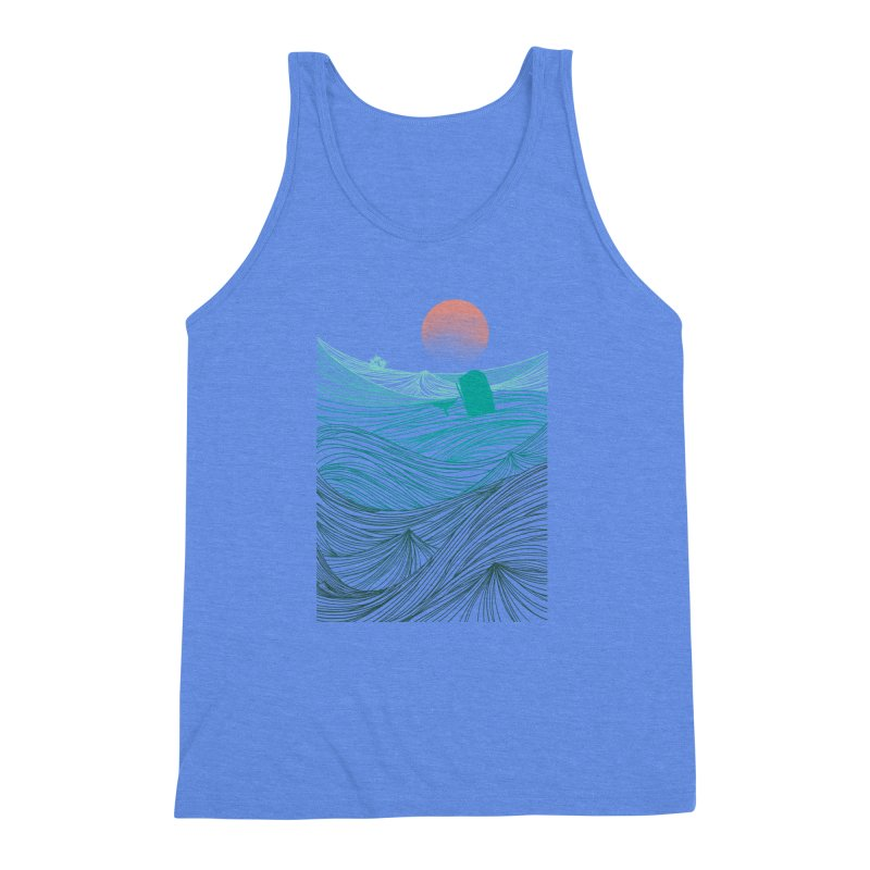 Behind the great whale Men's Triblend Tank by Sebasebi