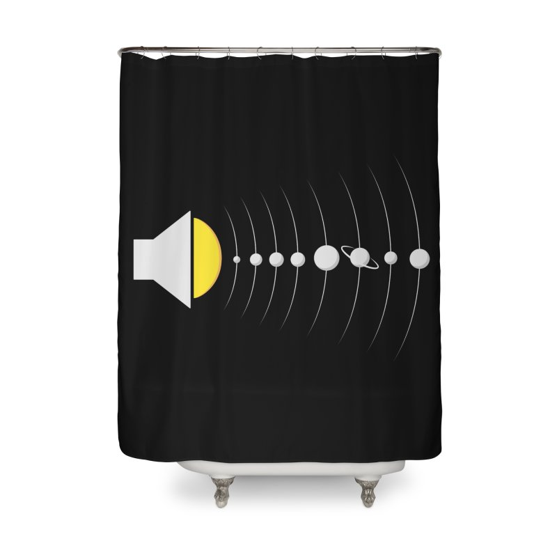 solar sound sistem Home Shower Curtain by Sebasebi