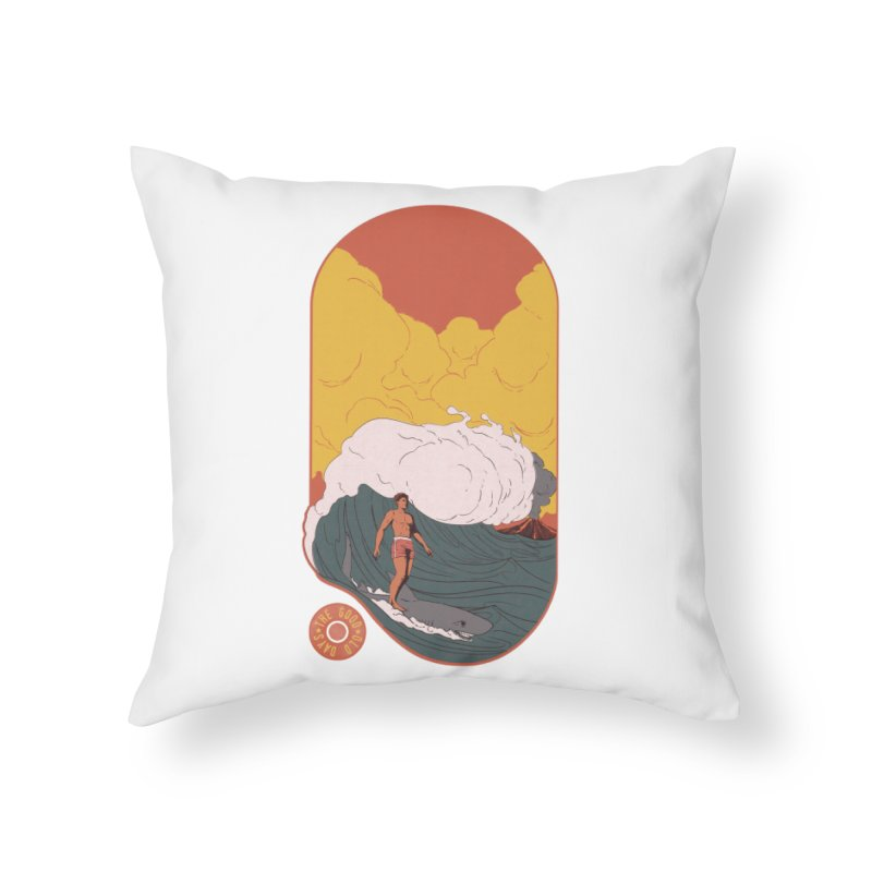 Goods old days Home Throw Pillow by Sebasebi