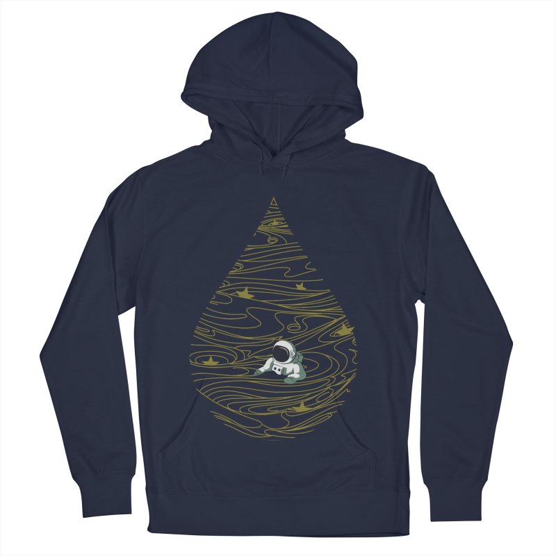 A drop in a sea of stars Men's French Terry Pullover Hoody by Sebasebi