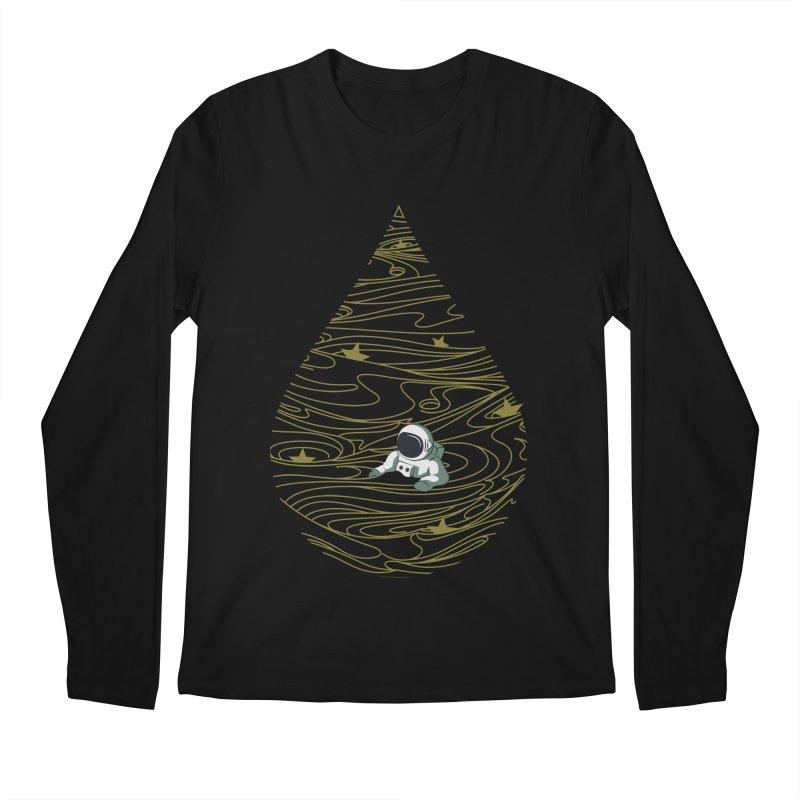A drop in a sea of stars Men's Regular Longsleeve T-Shirt by Sebasebi
