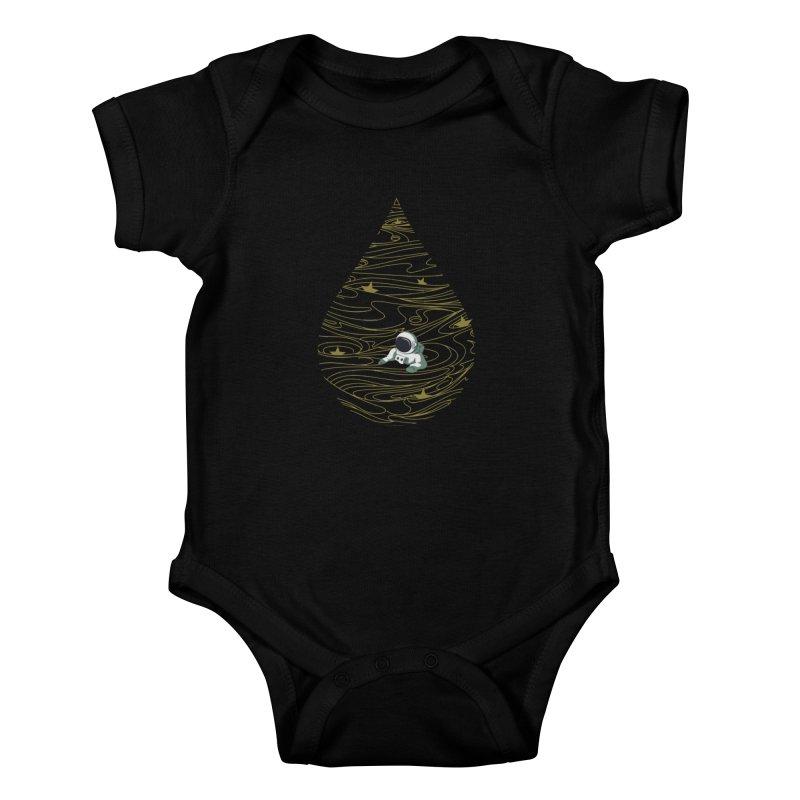 A drop in a sea of stars Kids Baby Bodysuit by Sebasebi