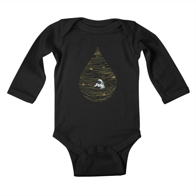 A drop in a sea of stars Kids Baby Longsleeve Bodysuit by Sebasebi