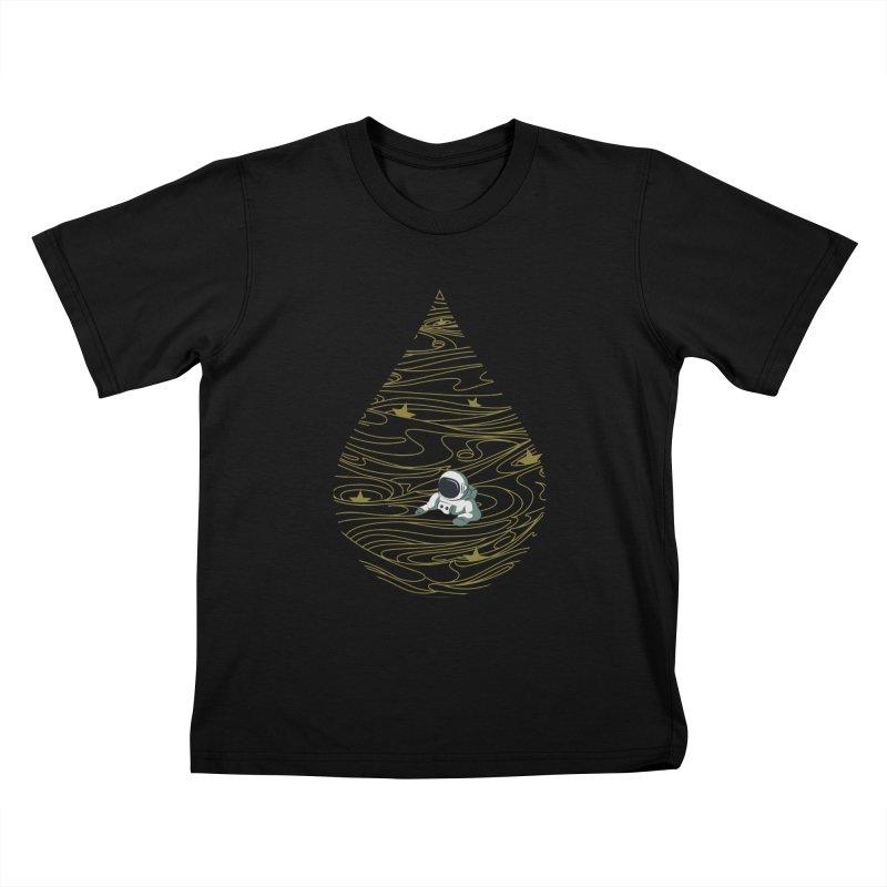 A drop in a sea of stars Kids T-Shirt by Sebasebi