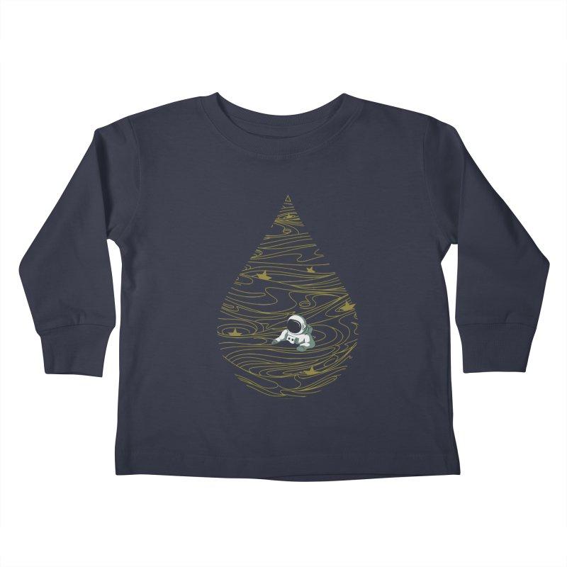 A drop in a sea of stars Kids Toddler Longsleeve T-Shirt by Sebasebi