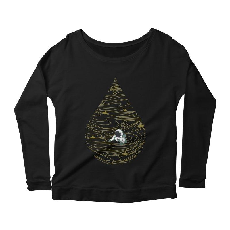 A drop in a sea of stars Women's Scoop Neck Longsleeve T-Shirt by Sebasebi