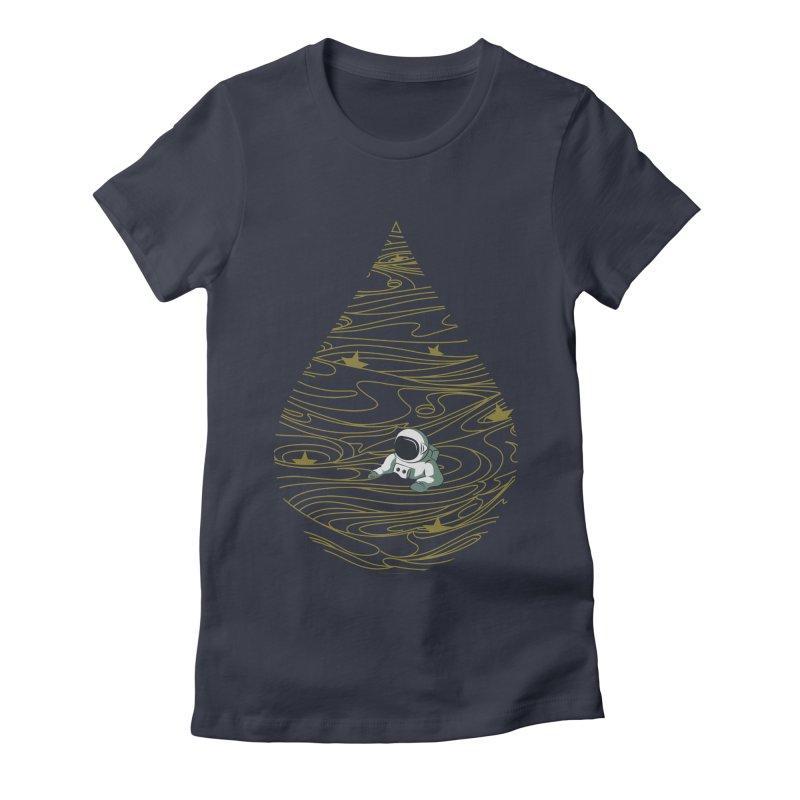 A drop in a sea of stars Women's Fitted T-Shirt by Sebasebi