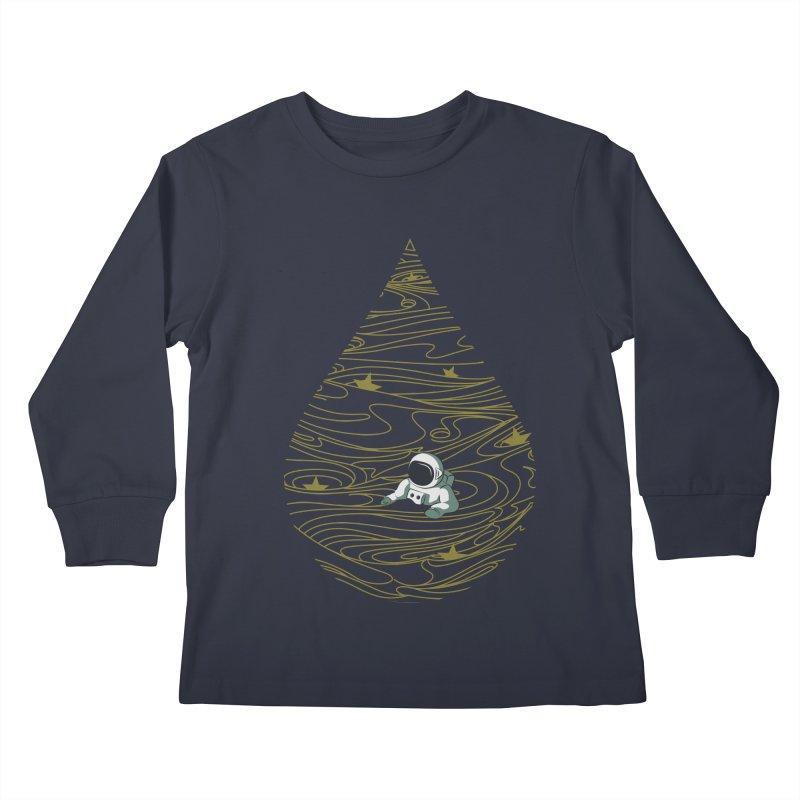 A drop in a sea of stars Kids Longsleeve T-Shirt by Sebasebi
