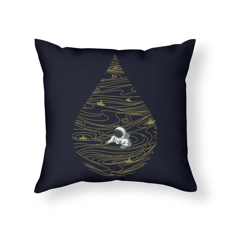 A drop in a sea of stars Home Throw Pillow by Sebasebi
