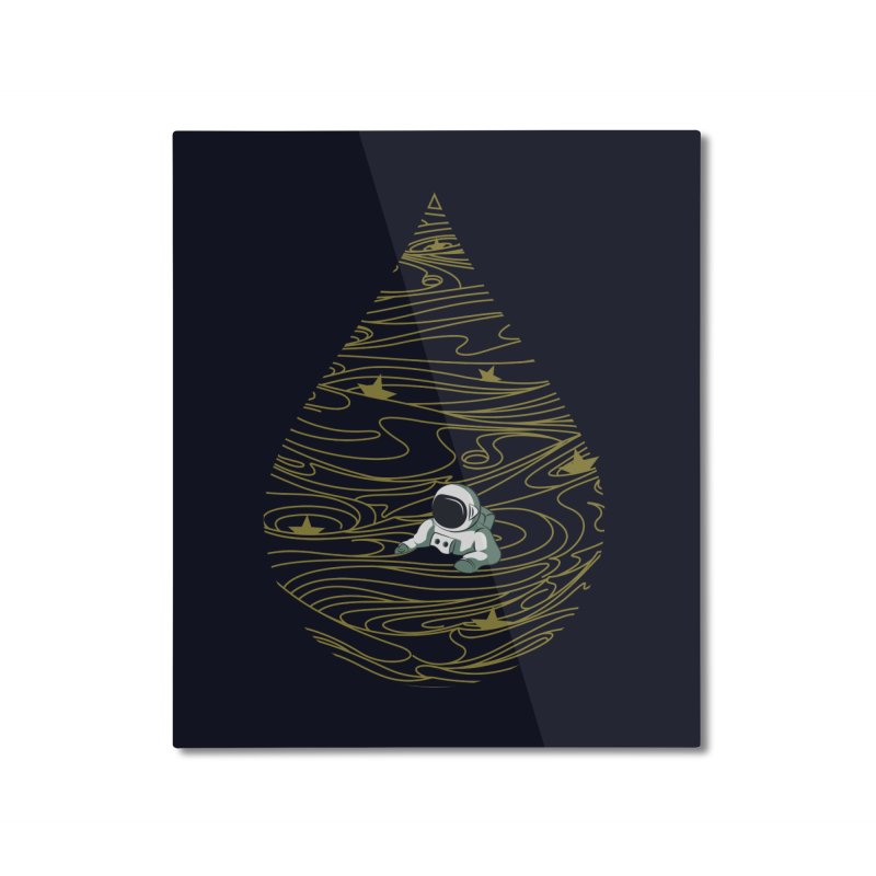 A drop in a sea of stars Home Mounted Aluminum Print by Sebasebi