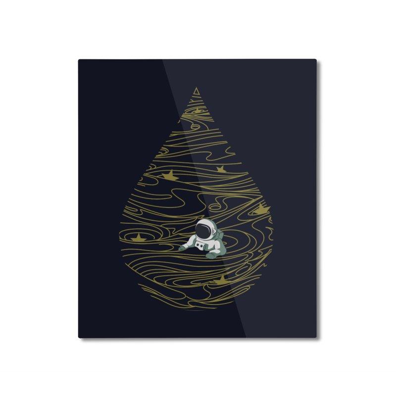 A drop in a sea of stars Home Mounted Aluminum Print by Sebasebi