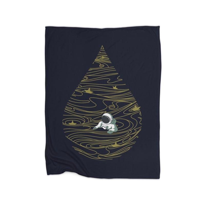 A drop in a sea of stars Home Blanket by Sebasebi