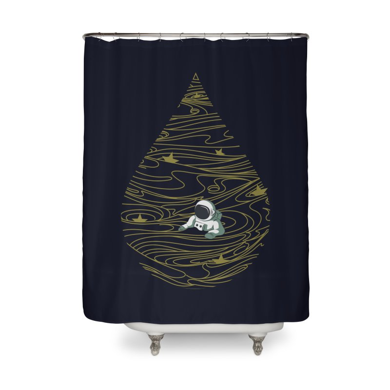 A drop in a sea of stars Home Shower Curtain by Sebasebi