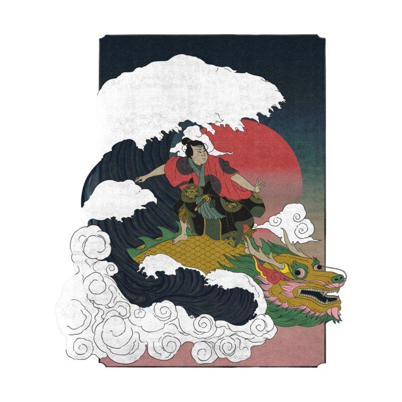 Surfing samurai by Sebasebi