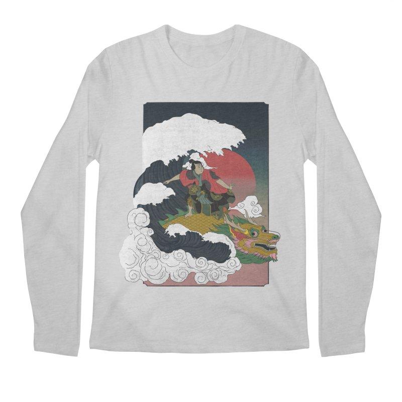 Surfing samurai Men's Regular Longsleeve T-Shirt by Sebasebi
