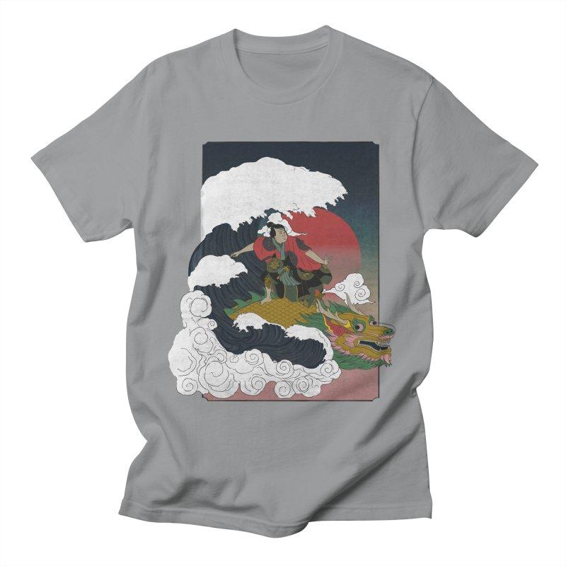 Surfing samurai Women's Regular Unisex T-Shirt by Sebasebi