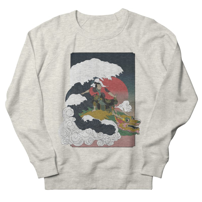 Surfing samurai Men's French Terry Sweatshirt by Sebasebi