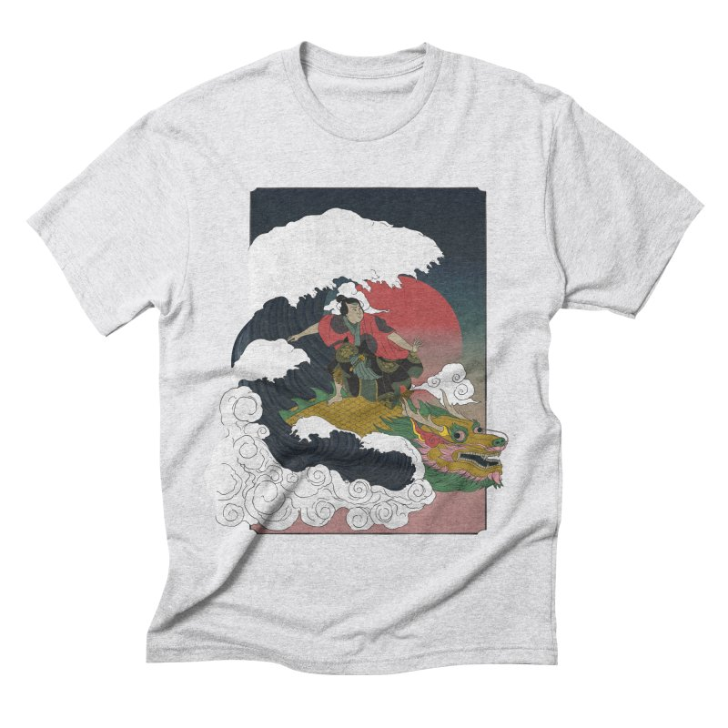 Surfing samurai Men's Triblend T-Shirt by Sebasebi