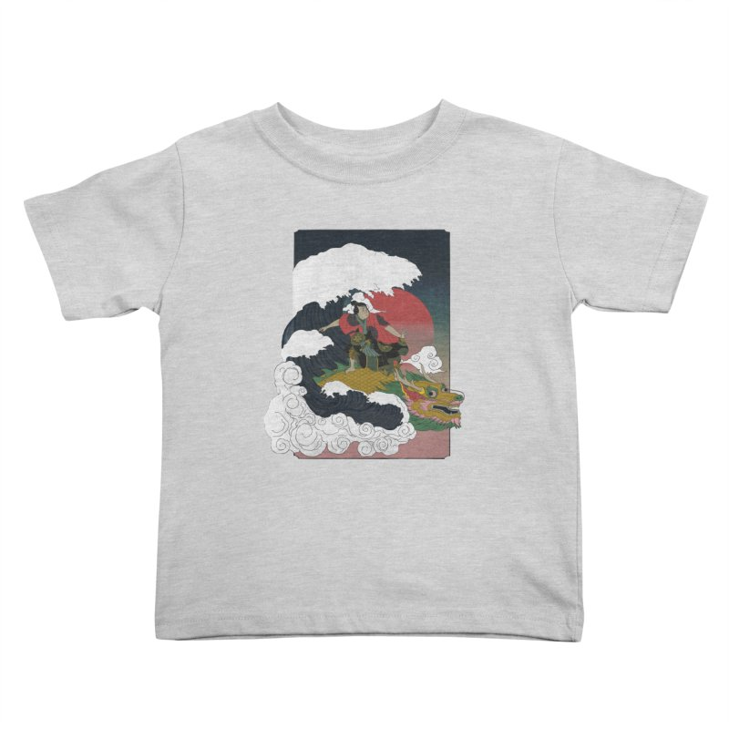 Surfing samurai Kids Toddler T-Shirt by Sebasebi