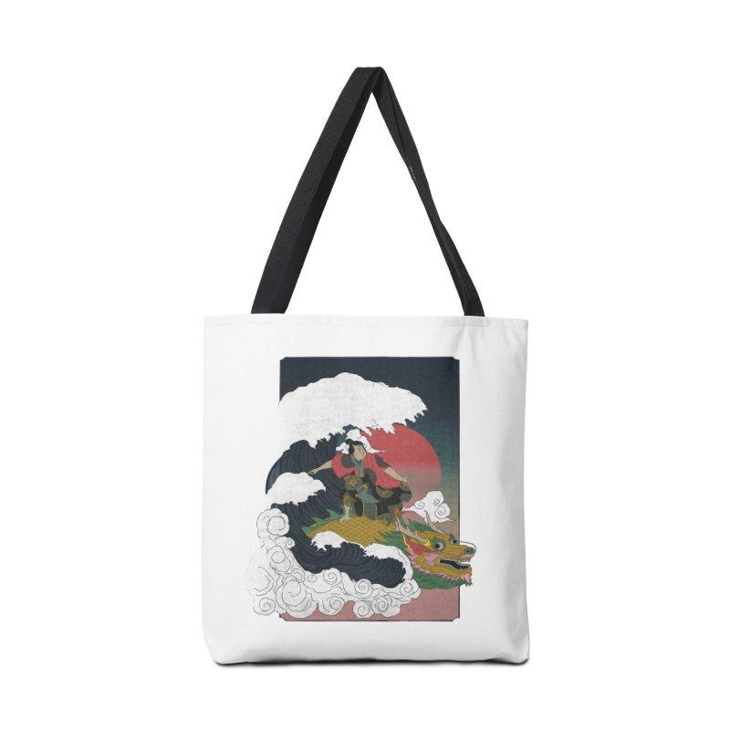 Surfing samurai Accessories Bag by Sebasebi