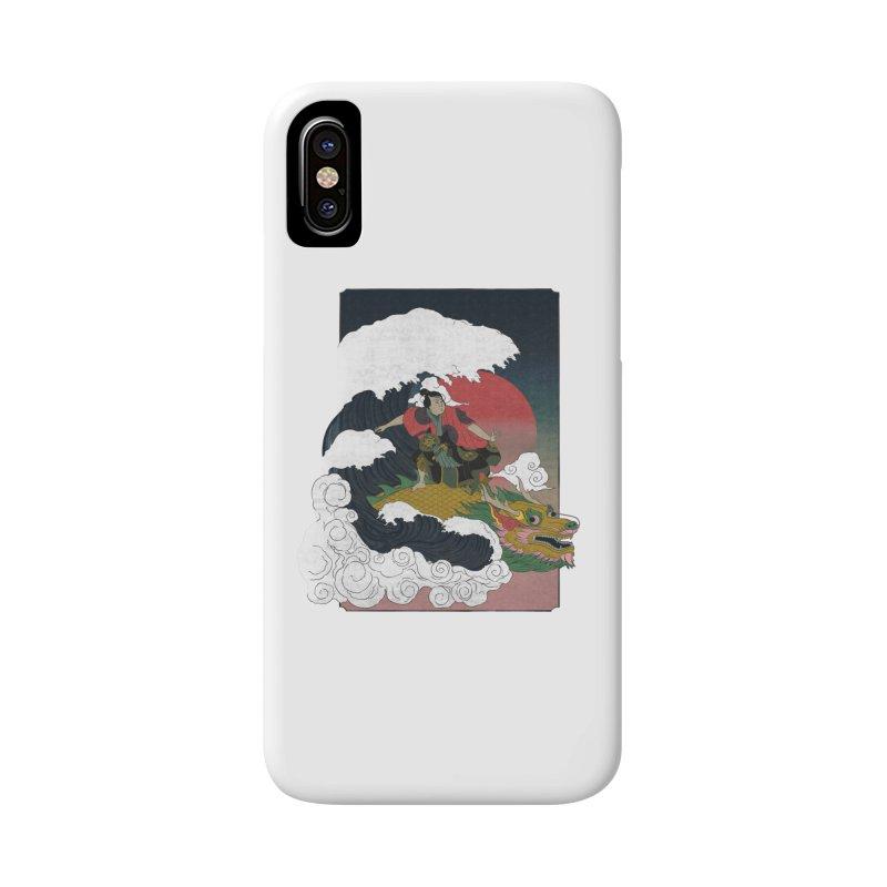 Surfing samurai Accessories Phone Case by Sebasebi