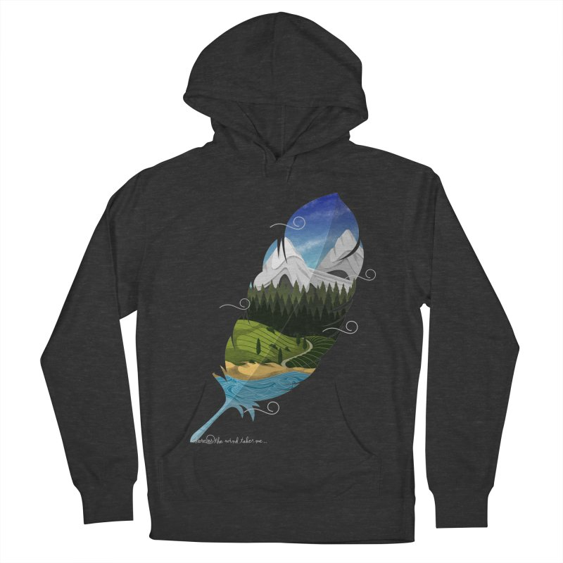 Wherever the wind take me Women's French Terry Pullover Hoody by Sebasebi