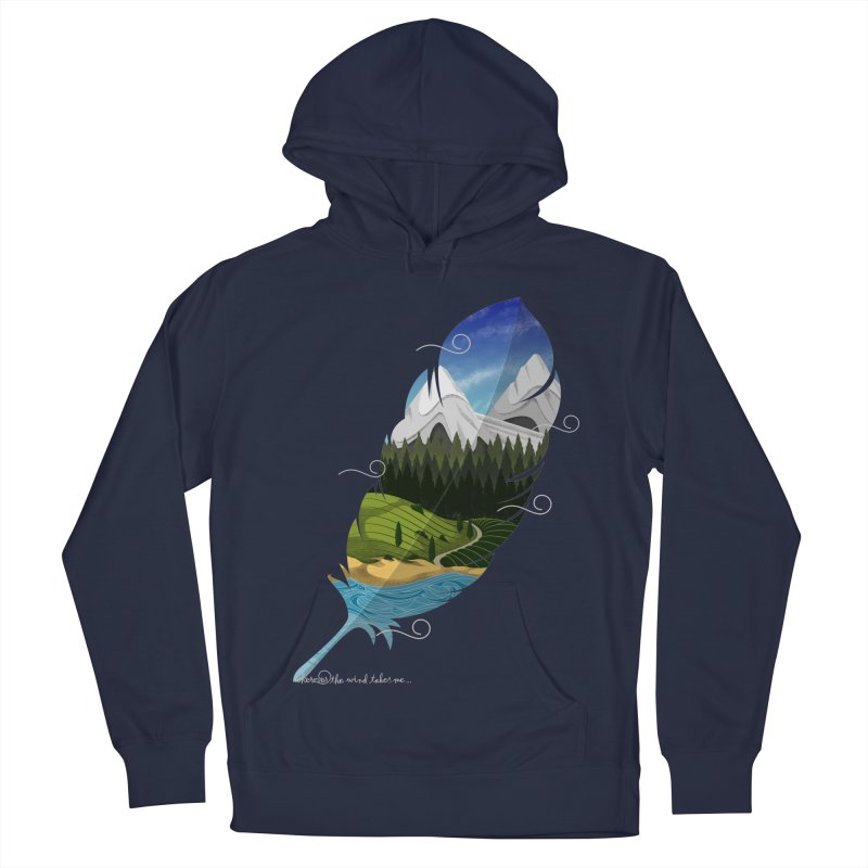 Wherever the wind take me final Women's French Terry Pullover Hoody by Sebasebi