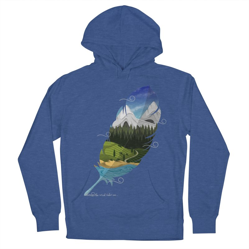 Wherever the wind take me Men's French Terry Pullover Hoody by Sebasebi