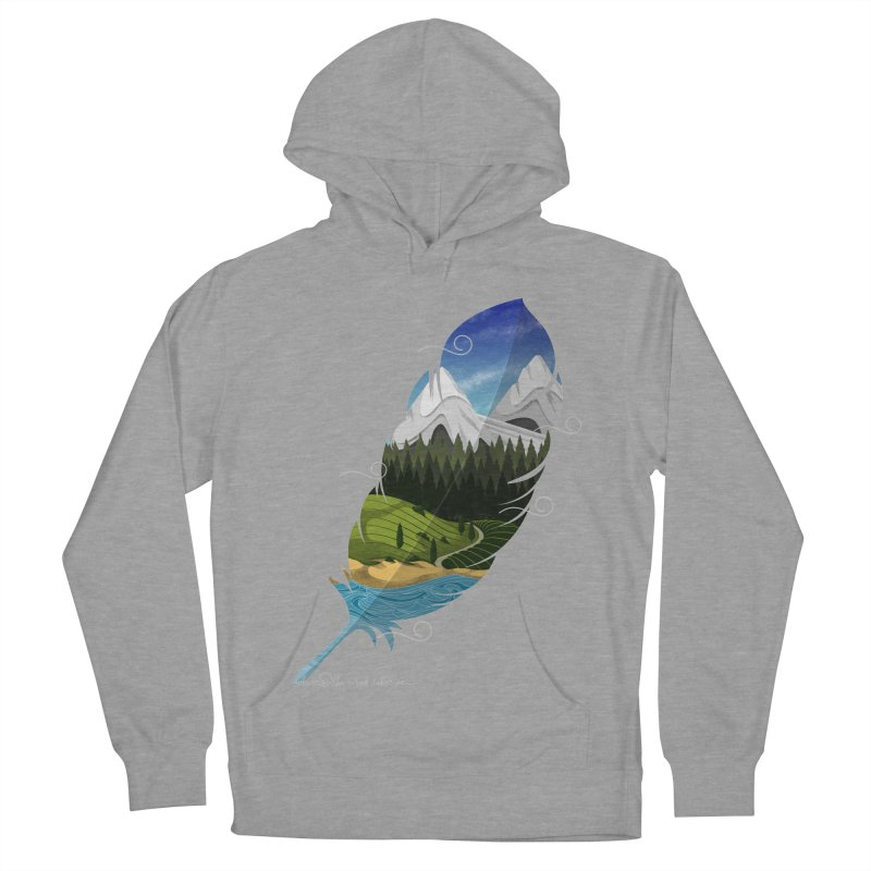 Wherever the wind take me final Men's French Terry Pullover Hoody by Sebasebi