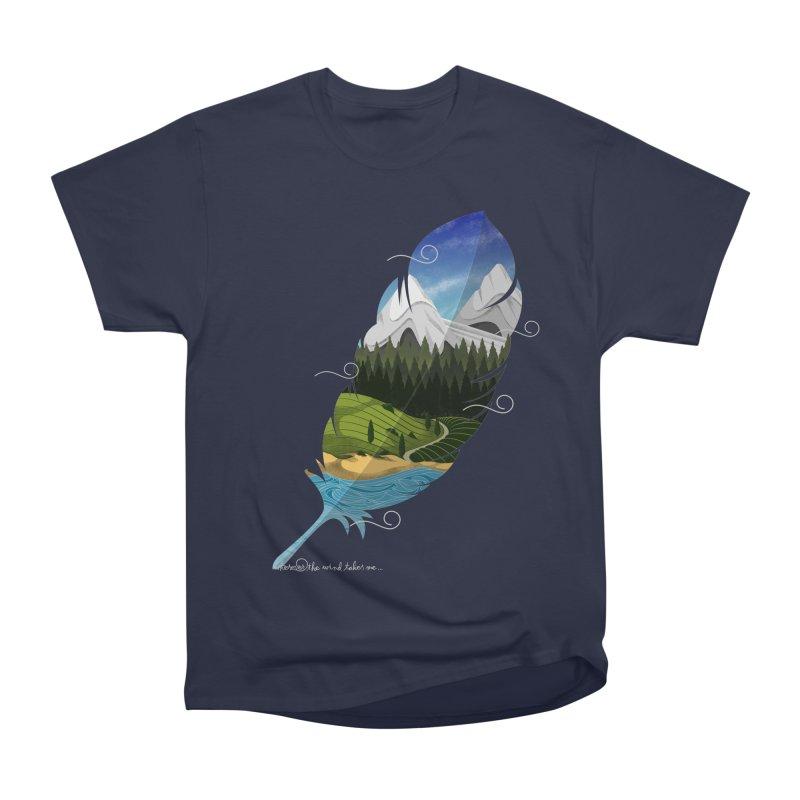 Wherever the wind take me Men's Heavyweight T-Shirt by Sebasebi