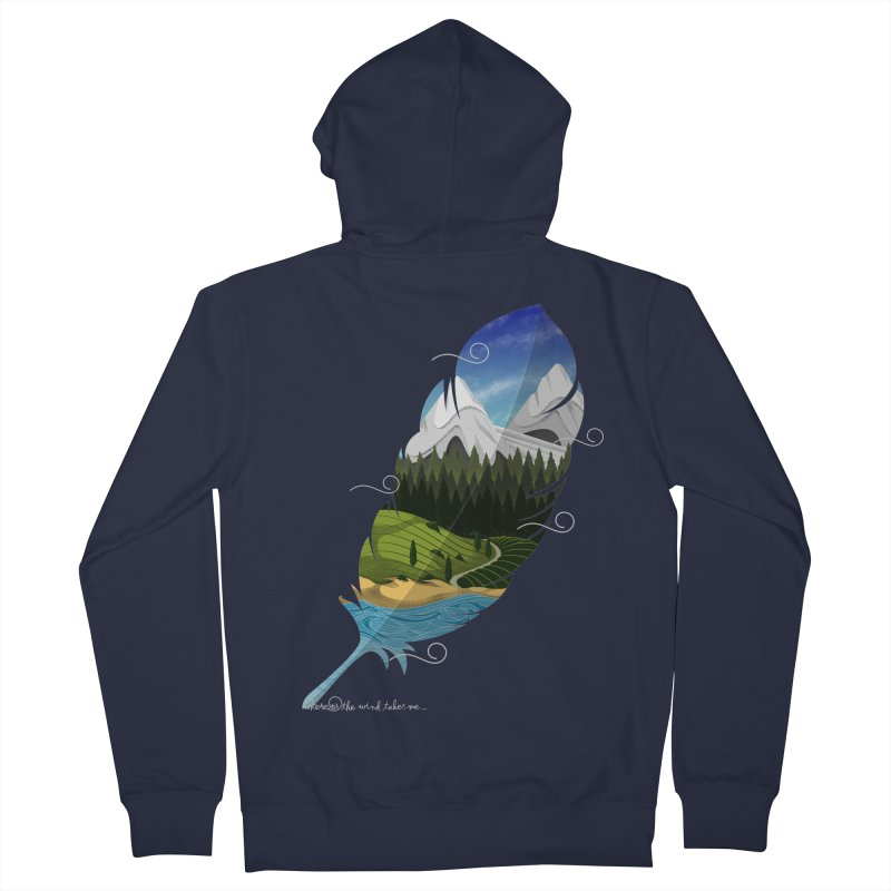 Wherever the wind take me Men's French Terry Zip-Up Hoody by Sebasebi