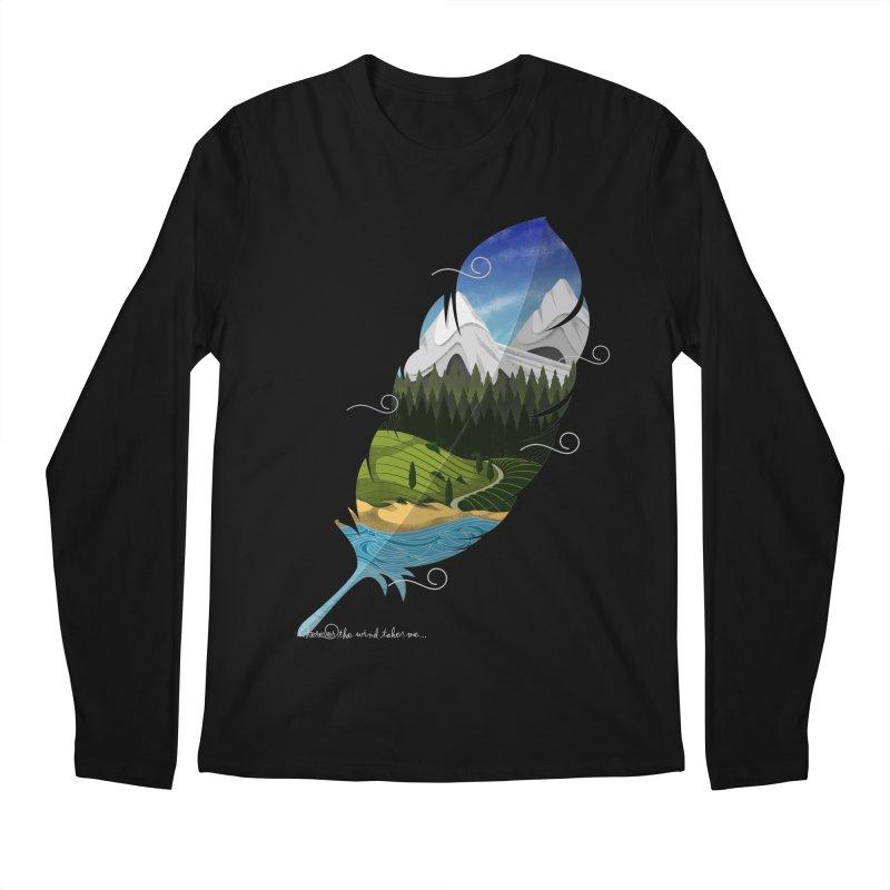 Wherever the wind take me Men's Regular Longsleeve T-Shirt by Sebasebi