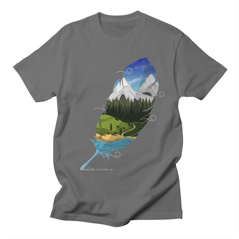 Wherever the wind take me Women's Regular Unisex T-Shirt by Sebasebi