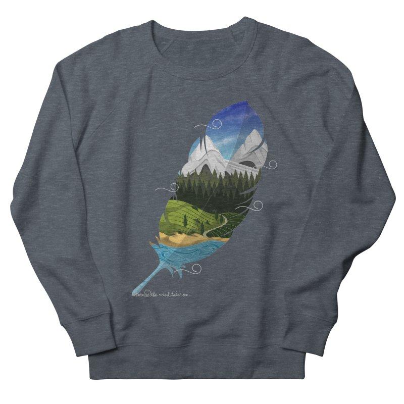 Wherever the wind take me Men's French Terry Sweatshirt by Sebasebi