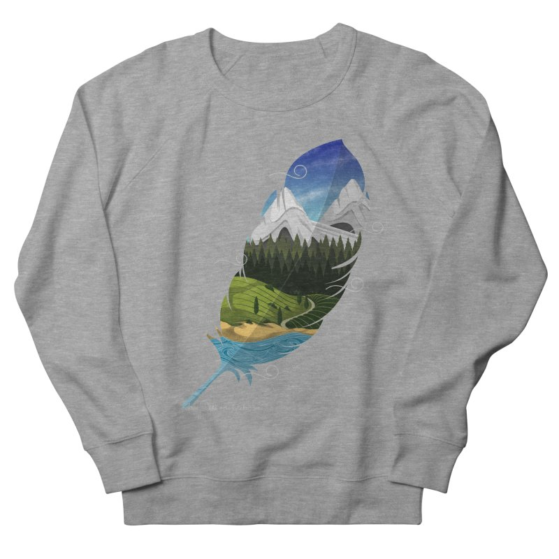 Wherever the wind take me Men's French Terry Sweatshirt by Sebasebi