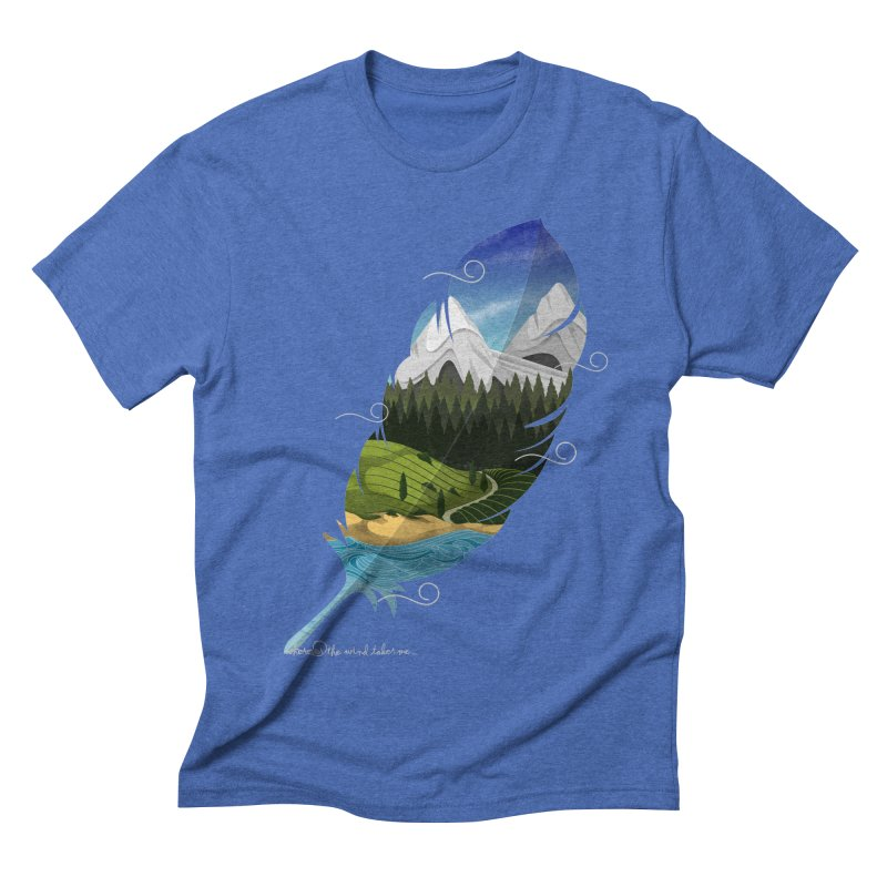 Wherever the wind take me Men's Triblend T-Shirt by Sebasebi