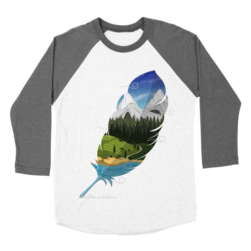 Wherever the wind take me Women's Baseball Triblend Longsleeve T-Shirt by Sebasebi