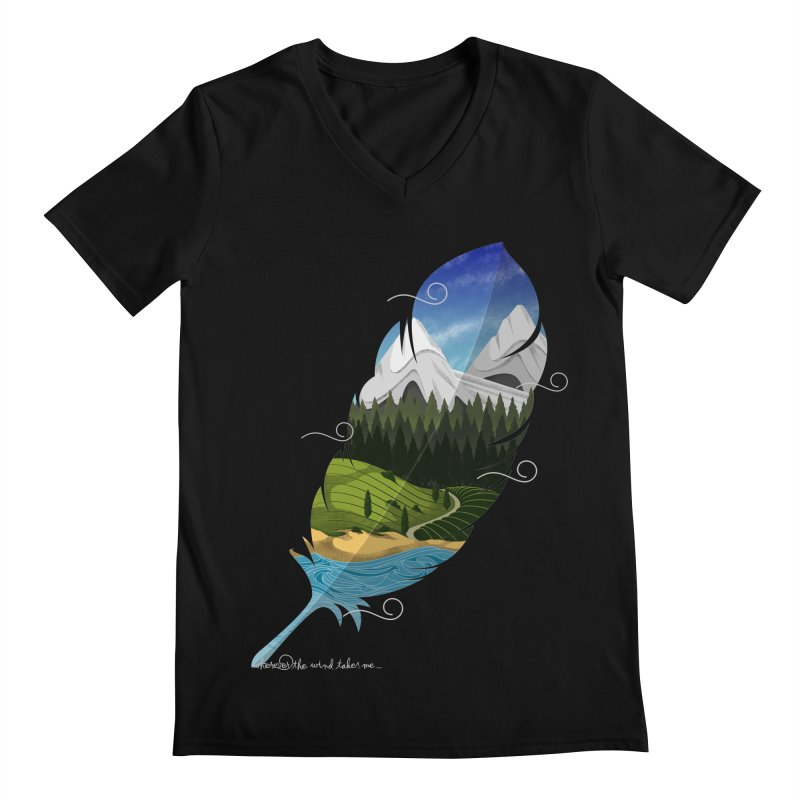 Wherever the wind take me final Men's Regular V-Neck by Sebasebi