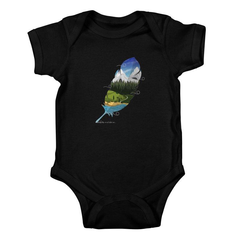 Wherever the wind take me Kids Baby Bodysuit by Sebasebi