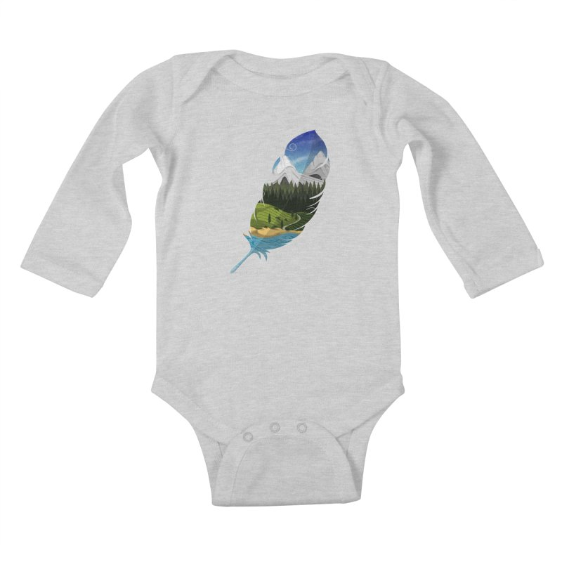 Wherever the wind take me Kids Baby Longsleeve Bodysuit by Sebasebi