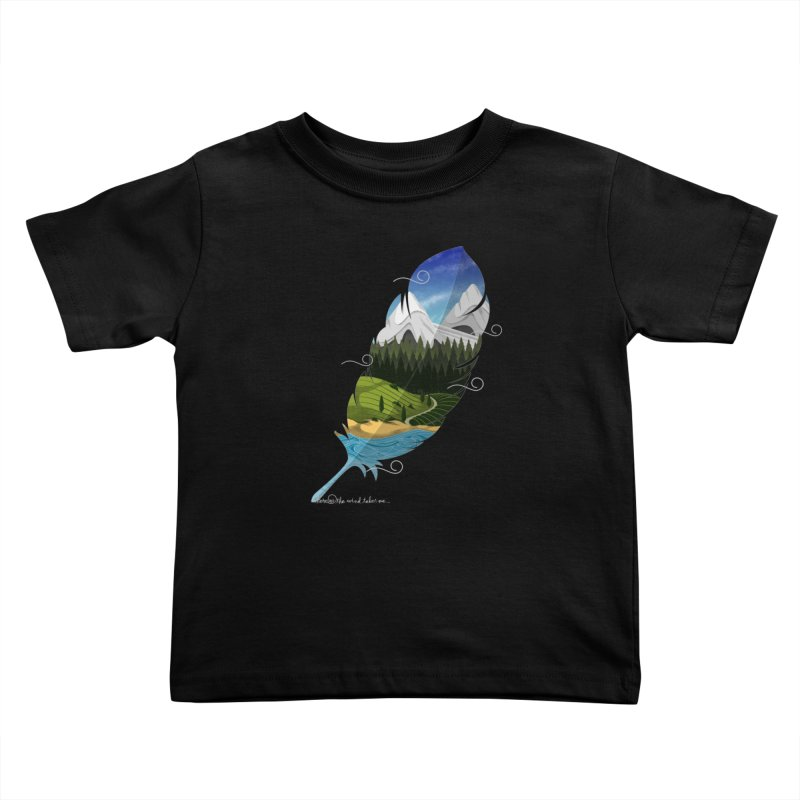 Wherever the wind take me Kids Toddler T-Shirt by Sebasebi