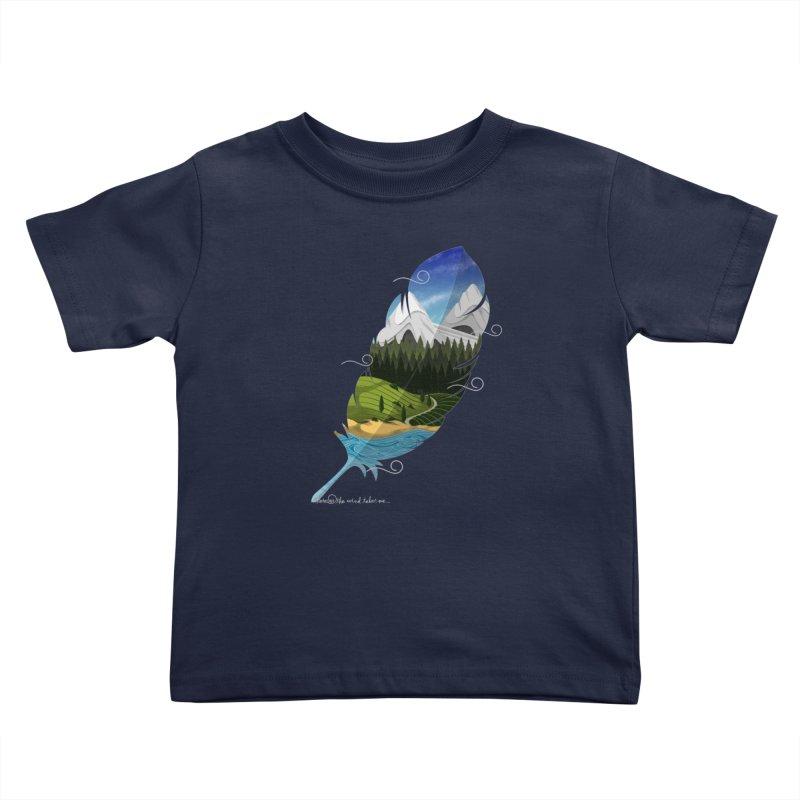 Wherever the wind take me Kids Toddler T-Shirt by Sebasebi