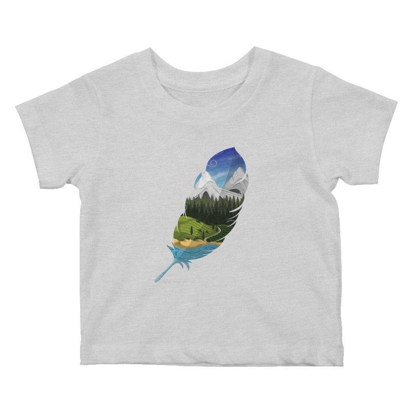 Wherever the wind take me Kids Baby T-Shirt by Sebasebi