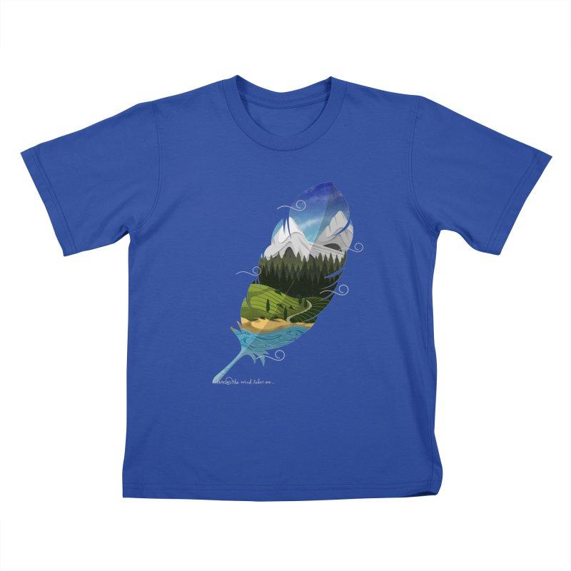 Wherever the wind take me final Kids T-Shirt by Sebasebi